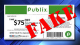 $75 off Publix coupon on social media is a fake
