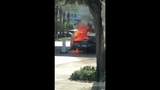 Video shows Ferrari burning outside Aventura Mall