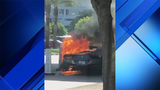 Ferrari goes up in flames outside Aventura Mall