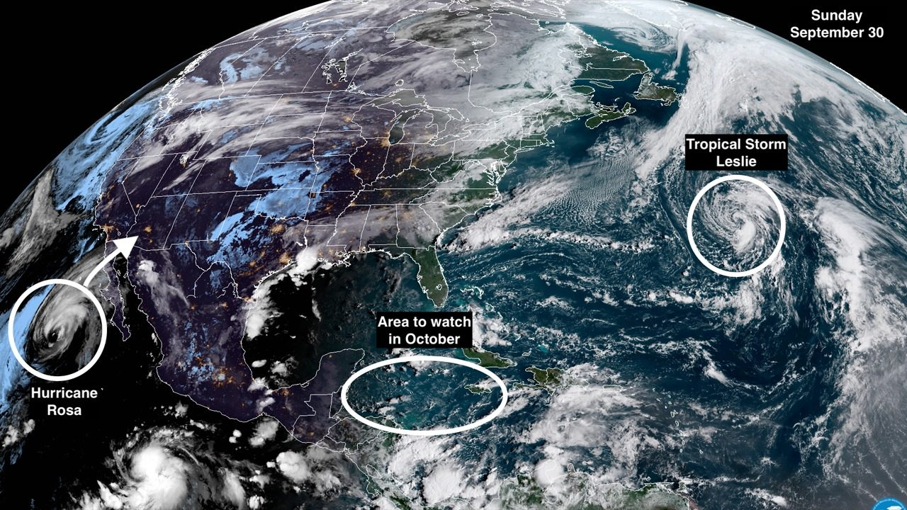 Disorganized Tropical Storm Leslie Poised To Strengthen