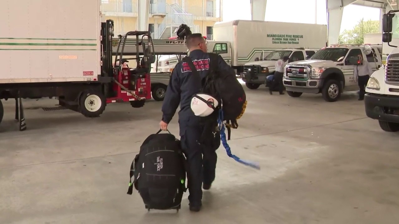 South Florida firefighters head north to await Hurricane Michael