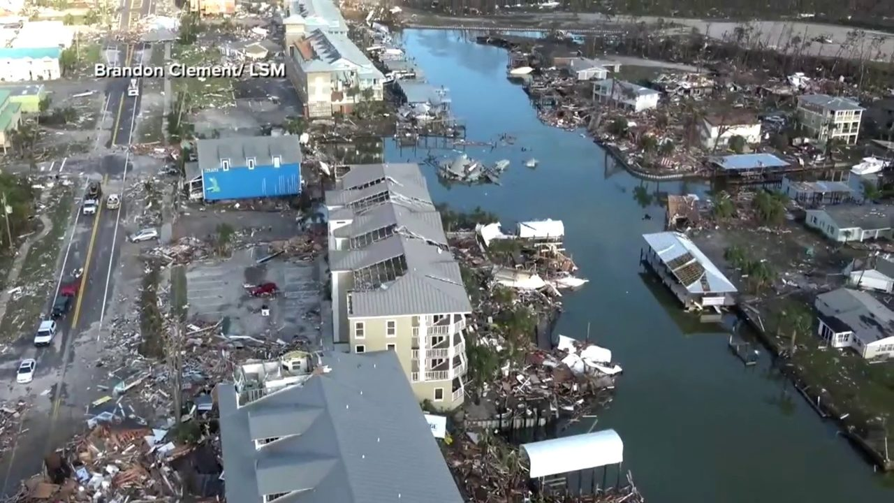 5ba021a3c0bf Video thumbnail for Florida Panhandle faces long road to recovery after  Hurricane Michael