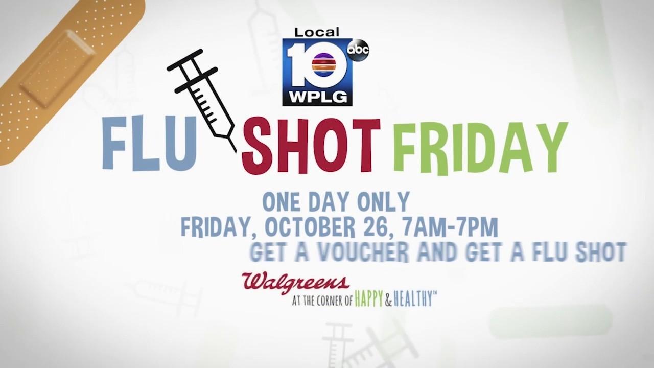Local 10, Walgreens team up for \'Flu Shot Friday\'