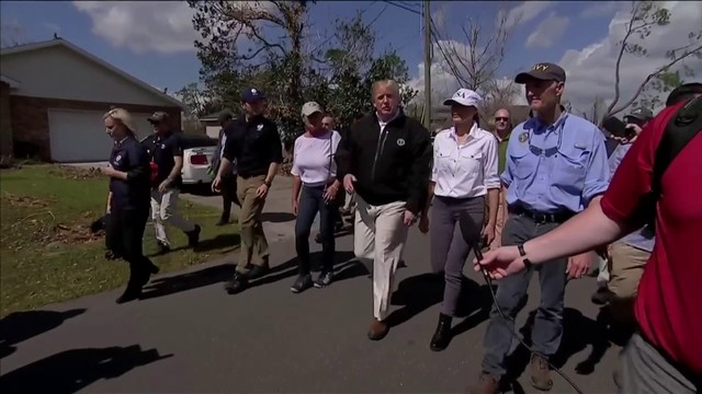 Image result for Trump and his wife were leaving for Georgia and Florida to assess the damage left behind by hurricane Michael.