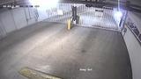 Surveillance video shows man breaking into parking garage in Miami