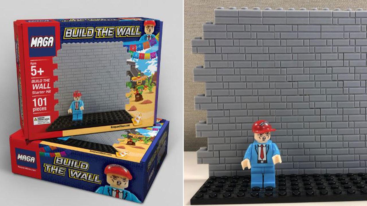 Pro Trump Website Selling Lego Like Maga Border Wall