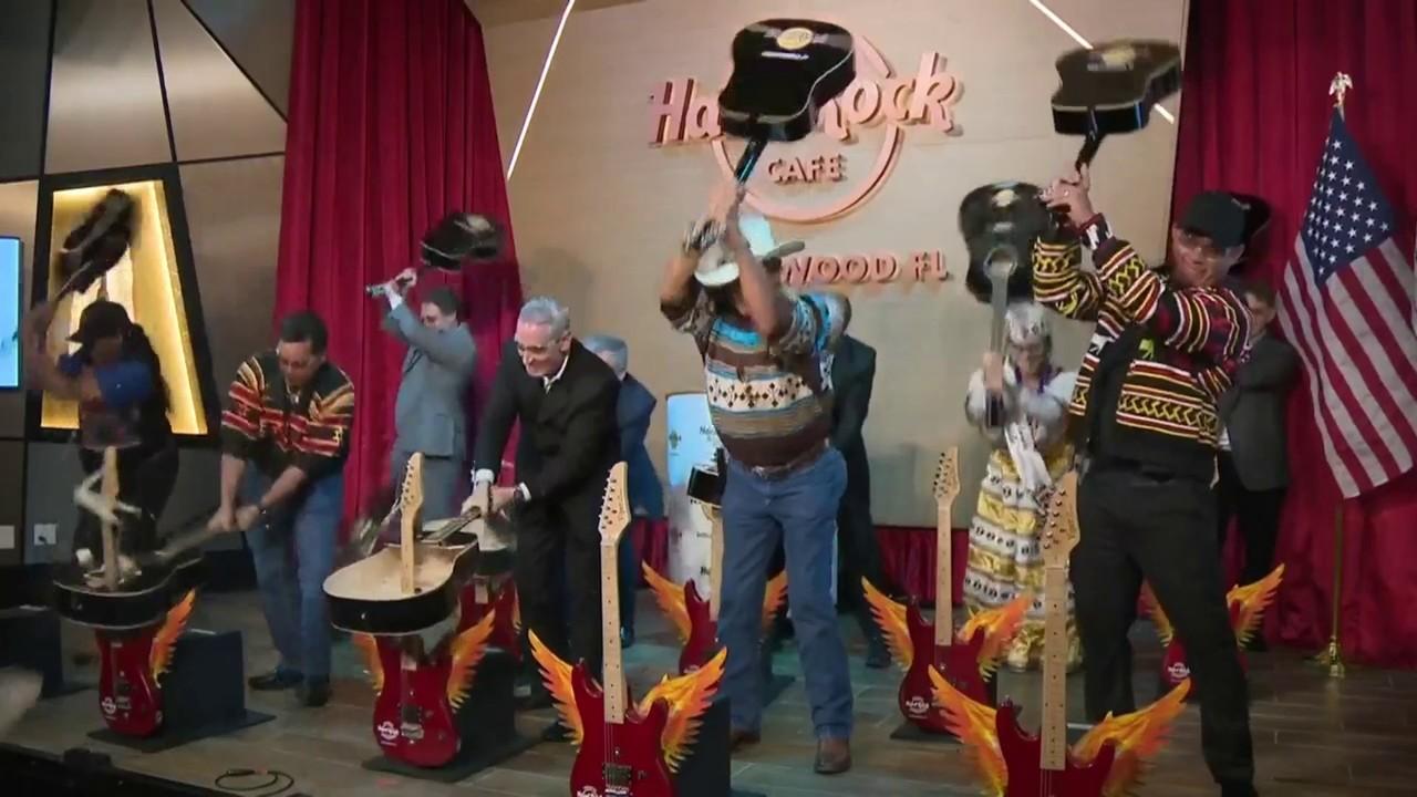 seminole hard rock hotel casino hosts guitar smash to. Black Bedroom Furniture Sets. Home Design Ideas