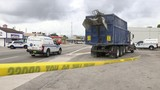 Garbage truck crash kills pedestrian