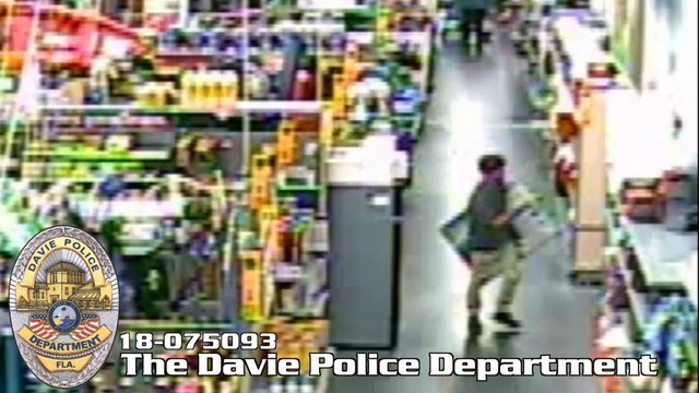 man flees on scooter after stealing tv at walmart in davie