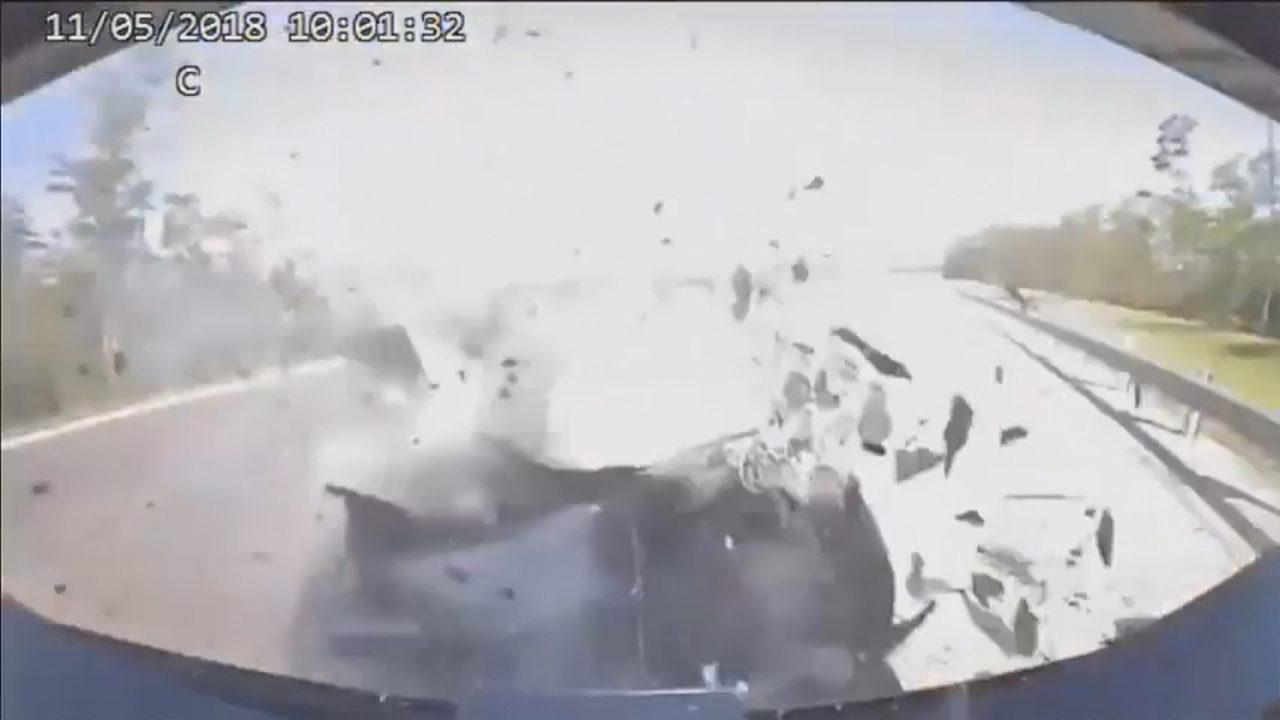Move over Florida! Dash cam video captures car slamming into