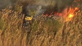 Brush fires burn west of Miami-Dade's Country Walk area