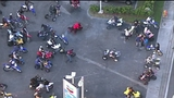 Video shows 'Wheels Up, Guns Down' stunt riders showing off at gas station