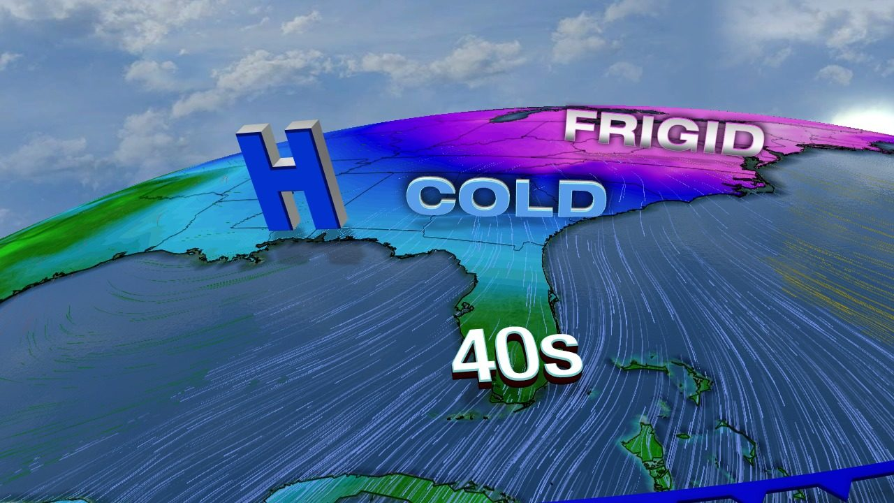 Coldest temperatures in a year coming to South Florida