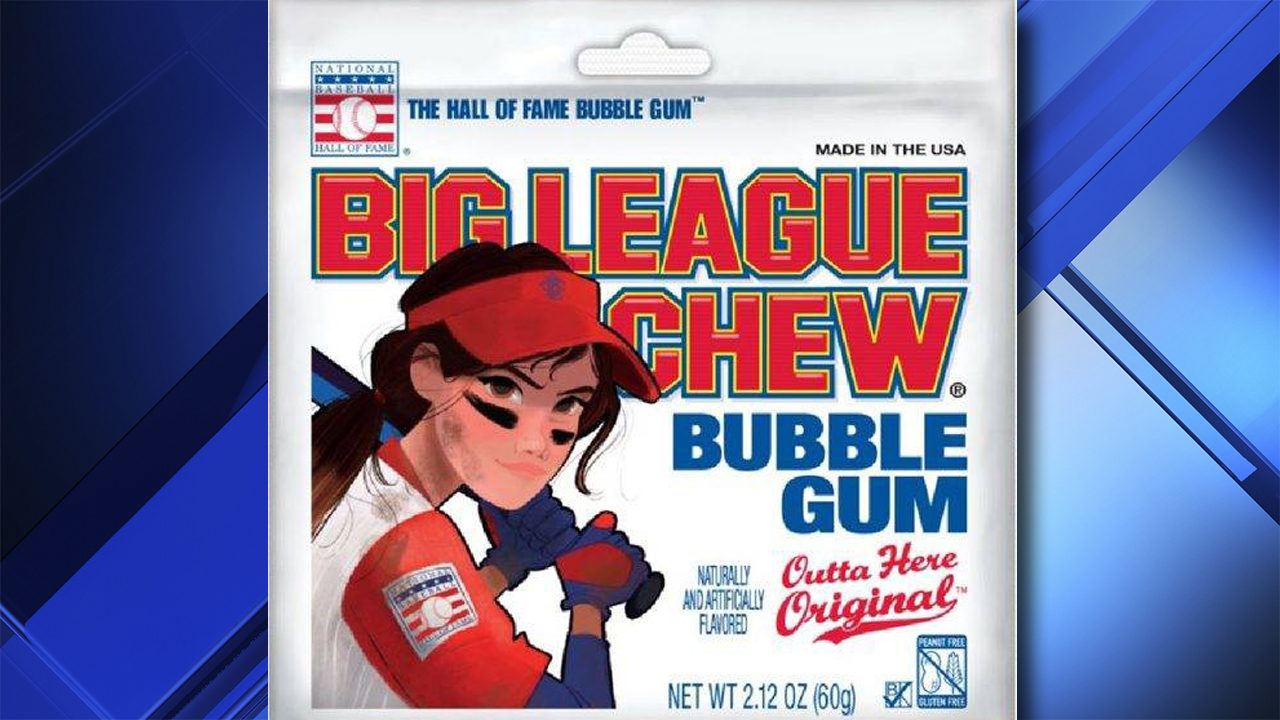Big League Chew features female on packaging for first time