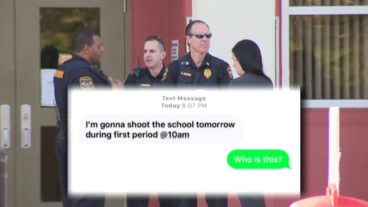 88efbd2e54 Video thumbnail for Threatening message texted to more than a dozen  students in Miramar