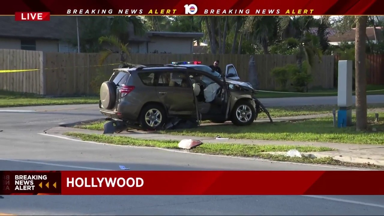 multiple injuries in 3-car crash in hollywood