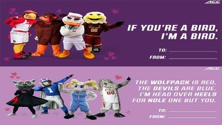 ACC sends Valentine's Day messages from all your favorite teams