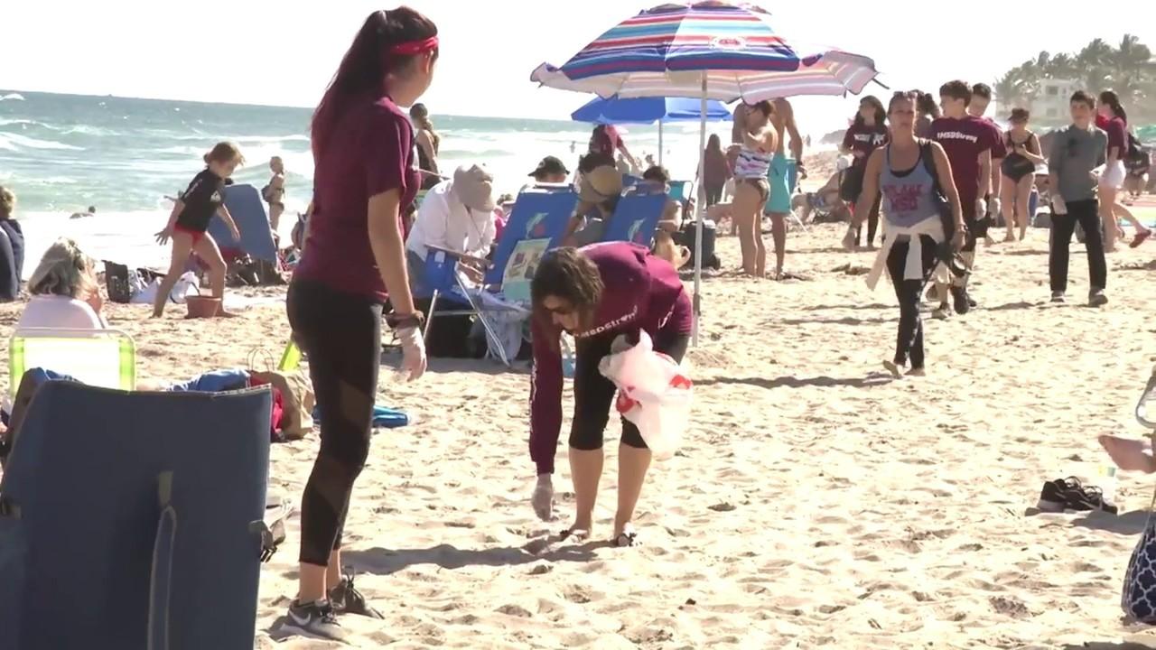 7eb8fedb Deerfield Beach cleanup held in honor of Alyssa Alhadeff