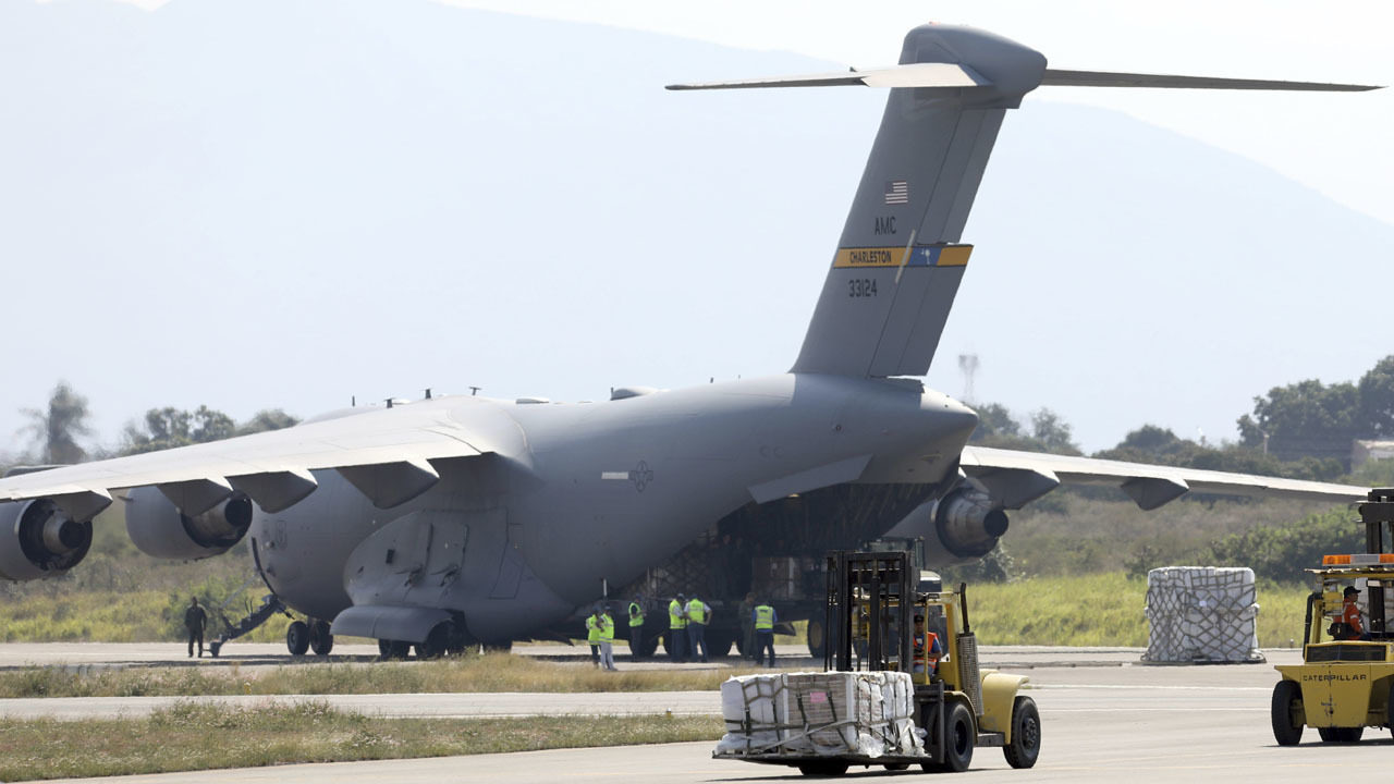 US military planes from Florida land near Venezuela border with aid