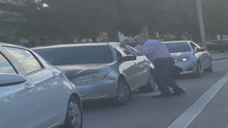 Victim of hit-and-run crash goes after driver in Doral, video shows