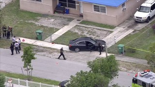 Officers search for white Mercedes-Benz in Miami Gardens shooting