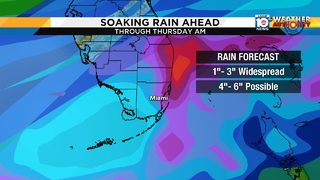 Winter wraps up in South Florida with blast of wet weather