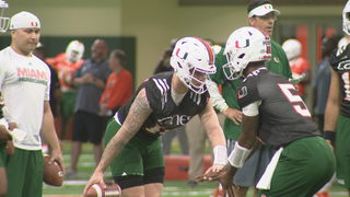Hurricanes kick off spring football for first time under Diaz