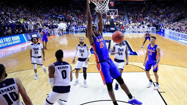 Gators upset Nevada in NCAA tournament