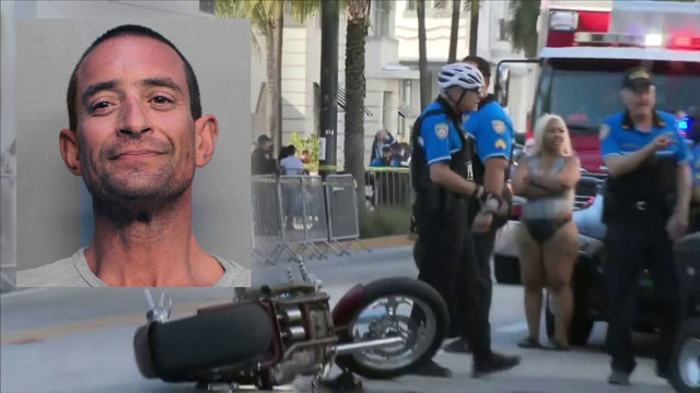 Miami Beach man accused of striking officer with motorcycle