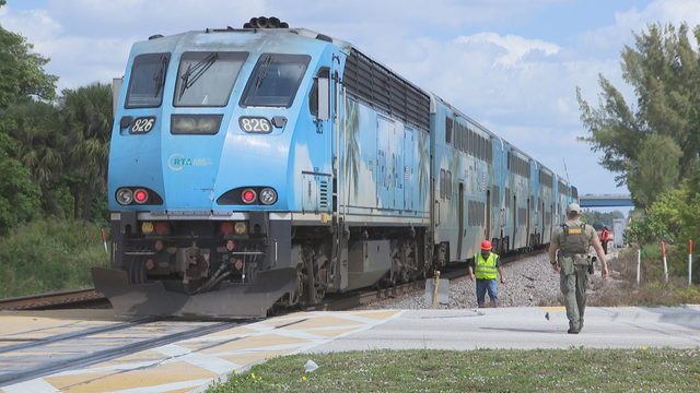 Driver hurt when car slams into side of Tri-Rail train in Pompano Beach