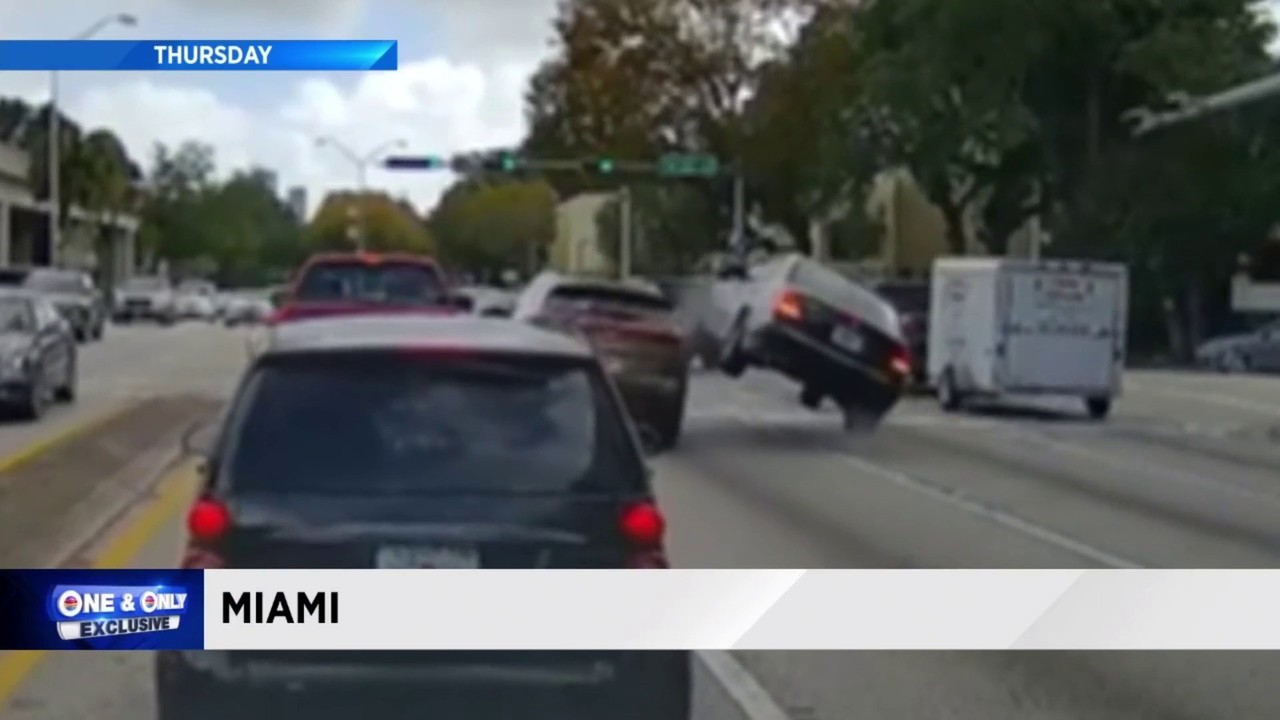 Video Shows Car Flying After Hit And Run Crash On Busy Us 1