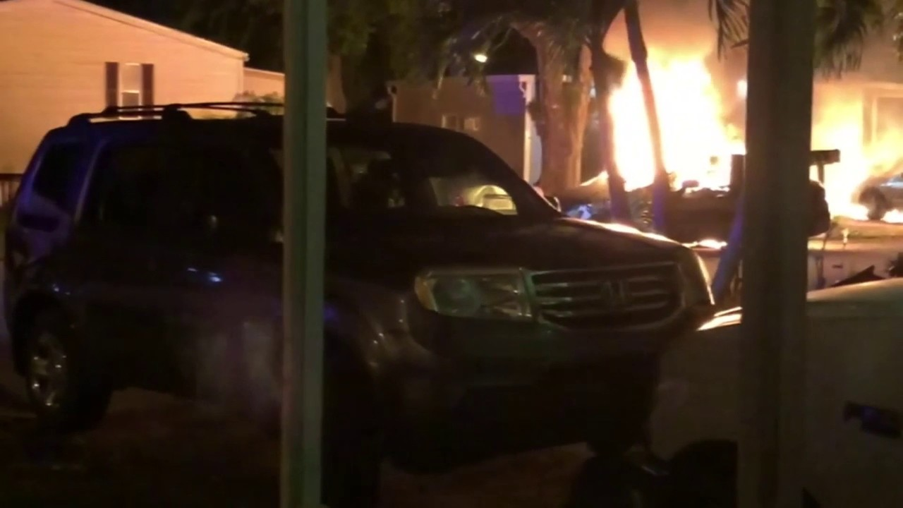 Fire Bomb Thrown Under Vehicle In Davie Mobile Home Park