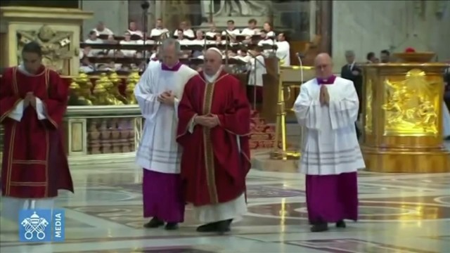 Pope Francis presides over service at Saint Peter's Basilica