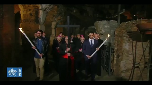 Stations of the Cross performed at historic Colosseum