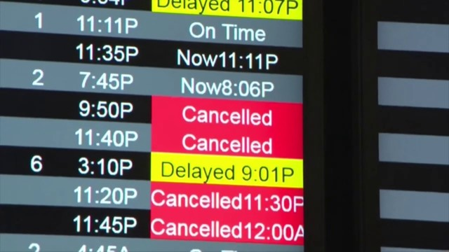 Spotty storms cause flight cancellations in South Florida