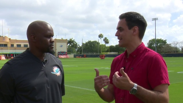 Brian Flores chats with Will Manso about time with Dolphins, draft thoughts