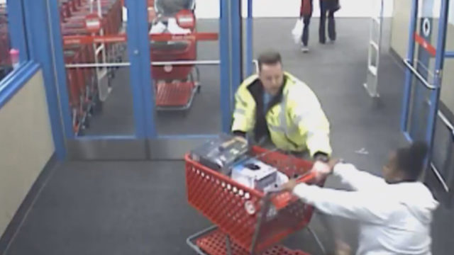 Target worker derails woman trying to steal cart full of electronics