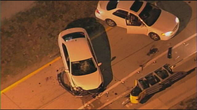 Driver abandons car after crash on I-95, flees in another car