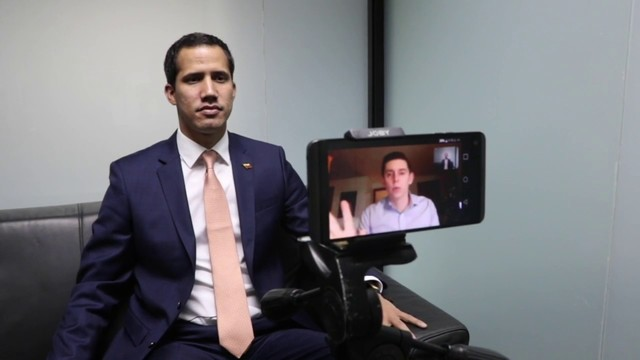 Guaidó talks to Local 10 News Correspondent Cody Weddle