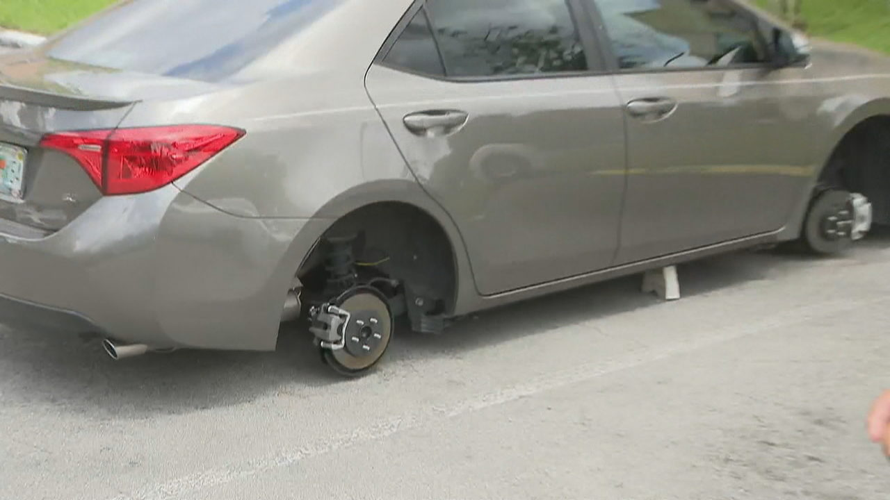 Thieves target Toyotas for wheels, tires in northwest Miami-Dade complex