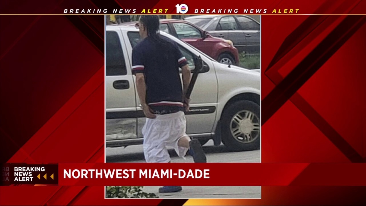 Miami-Dade police search for machete-wielding robber