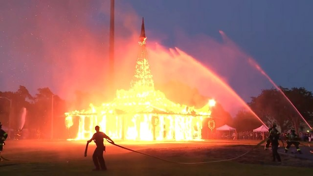'Temple of Time' burned to ground to help people move beyond pain, grief