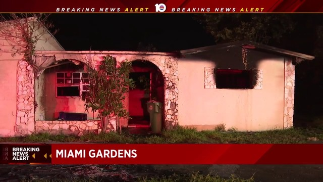Firefighters extinguish vacant house fire in Miami Gardens