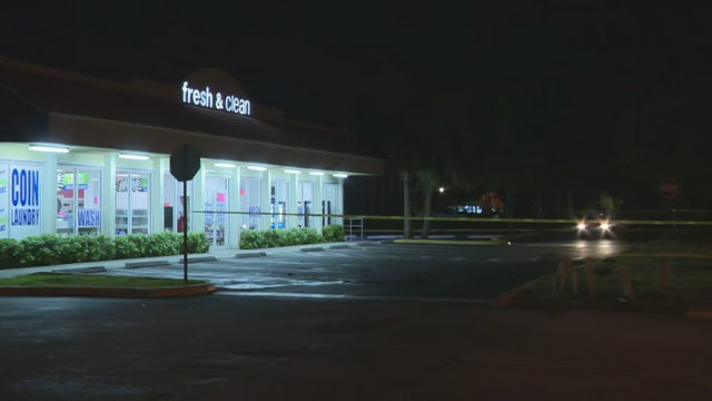 Stabbing victim walks into Sunrise laundromat for help
