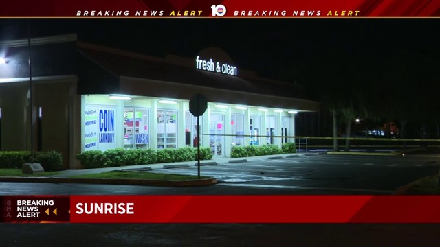 Man walks into Sunrise laundromat with stab wounds
