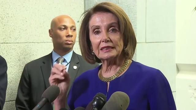 Nancy Pelosi accuses President Trump of cover-up