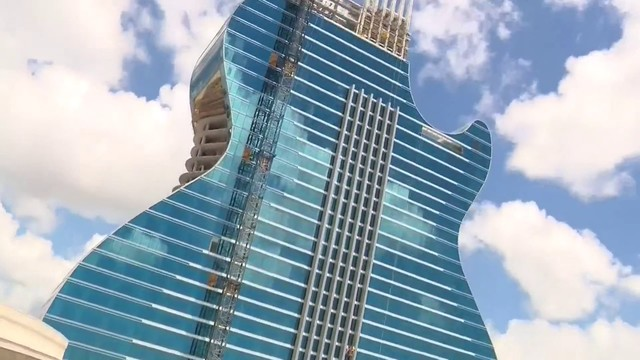 Tour The Hard Rock's guitar hotel's construction site