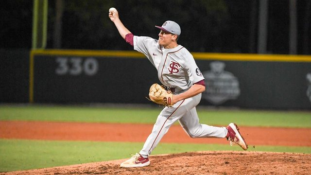 Van Eyk strikes out 9 as Seminoles upset Georgia