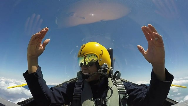 Eric Yutzy flies with Blue Angels