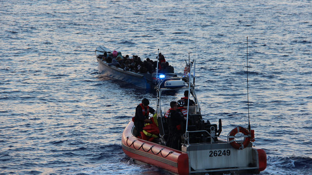 Coast Guard intercepts small boat packed with Haitian migrants